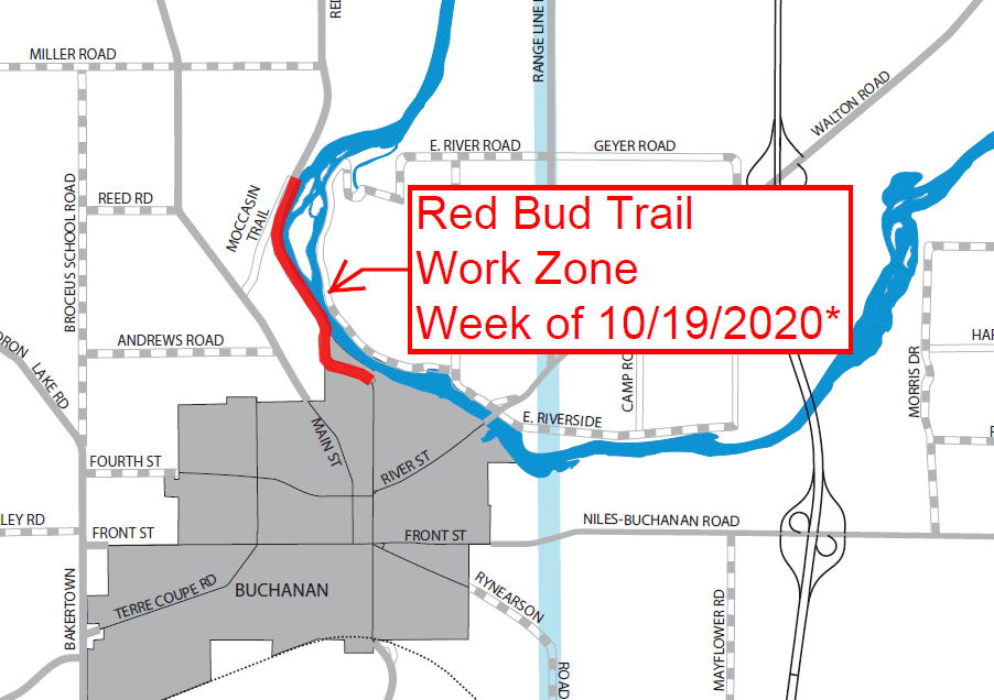Capture Red Bud Trail Work Zone 10 14 2020